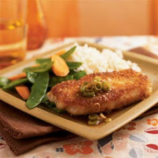 Wasabi and Panko-Crusted Pork with Gingered Soy Sauce