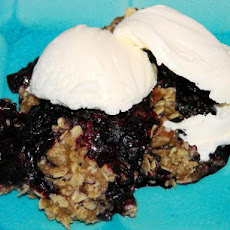 Microwave Blueberry Crumble