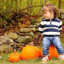 Autumn Mischief by Benjamin Boynton - Babies & Children Child Portraits