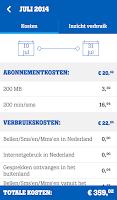 Screenshot of MijnTele2 App