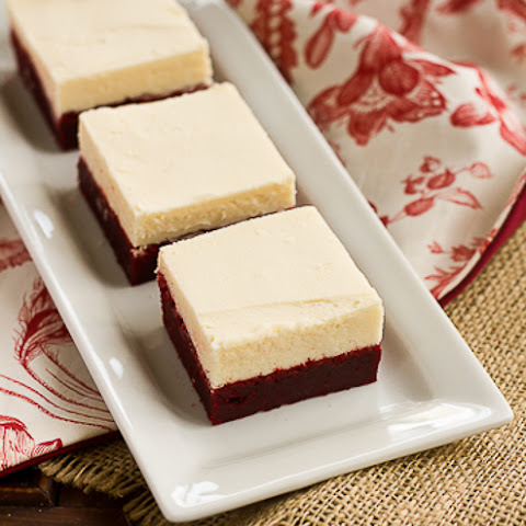 Red Velvet Brownies with White Chocolate Icing…Redux