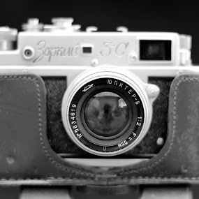 Selfie by Andi Topiczer - Black & White Objects & Still Life ( zorki, camera, lens, object )
