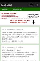 Screenshot of Schulausfälle in Niedersachsen