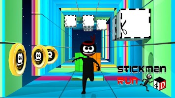 Screenshot of Stickman Run 4D - Gold Edition