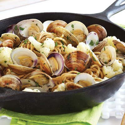 Cauliflower & Clams in Parsley Broth