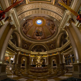 Venetian Rotunda by Tom Shope - Buildings & Architecture Architectural Detail ( ceiling, rotunda, venice, columns, hotel, vegas, venetian, Architecture, Ceilings, Ceiling, Buildings, Building )