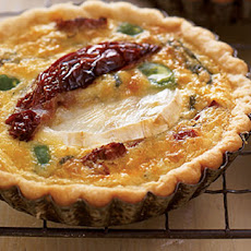 Broad bean, goat's cheese and SunBlush tomato tarts