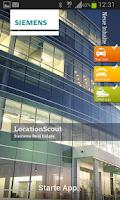 Screenshot of Siemens LocationScout
