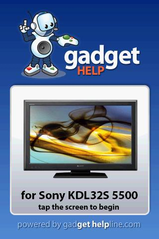 Sony KDL 32S5500 - Gadget Help