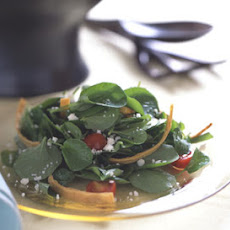 Watercress Salad with Cotija Cheese and Fried Tortillas