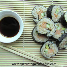 Smoked Salmon Brown Rice Sushi Rolls