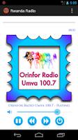 Screenshot of Rwanda Radio