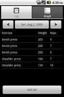 Screenshot of LiftLog