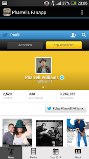 Pharrell Williams FanApp - screenshot