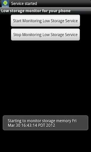 【免費生產應用App】Low Storage monitor-APP點子
