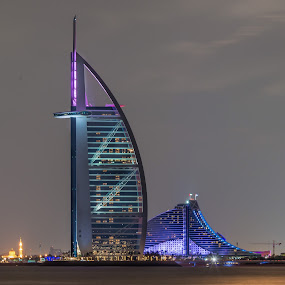 Dubai Night by Walid Ahmad - Buildings & Architecture Office Buildings & Hotels ( arab, dubai, uae, photography )
