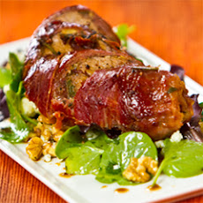 Roasted Lamb With Watercress, Blue Cheese And Walnut Salad