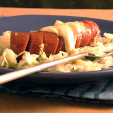 Braised Cabbage and Leeks with Turkey Sausage