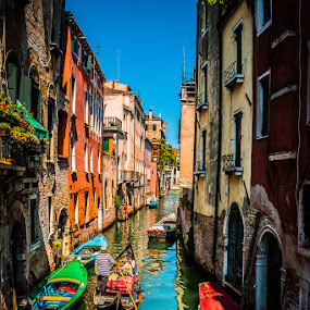 Boat Ride by Chris Pugh - City,  Street & Park  Neighborhoods ( bright, venice carnival italia carnevale venezia, neighborhood, venice, italy, Spring, springtime, outdoors, water, device, transportation )