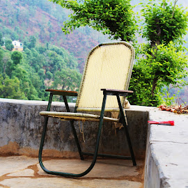 chari by Pankaj Negi - Buildings & Architecture Homes ( chair, mountain, nature, green, trees, Chair, Chairs, Sitting )