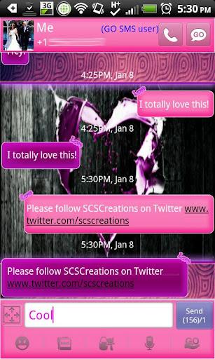 GO SMS THEME LovelyHeart