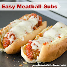 Easy Marinara Meatballs Subs