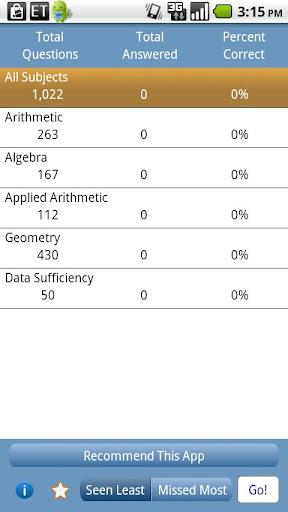 GMAT Math TestBank