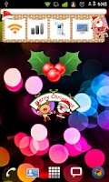 Screenshot of Christmas StickerWidget Second