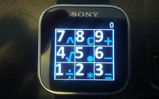 Calculator for Sony SmartWatch
