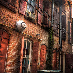 Alley/Gaveston by Jim Oakes - Buildings & Architecture Other Exteriors ( building, brick, alley )