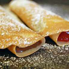 Crepes with Nutella and Strawberry Filling