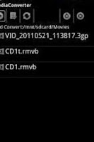Screenshot of ffmpeg codec arm v5te