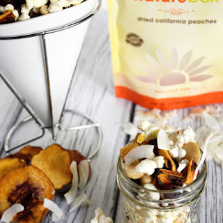 Peach Colada Popcorn Snack Mix {#NatureBox}