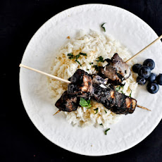 Grilled Blueberry Chicken Skewers