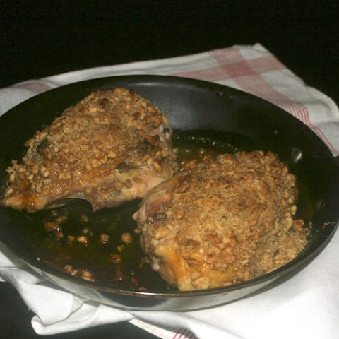 SAGE HONEY CHICKEN WITH A WALNUT CRUST