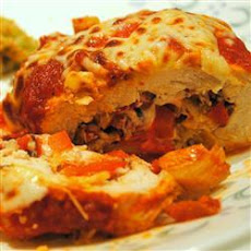Artichoke and Tomato Stuffed Chicken