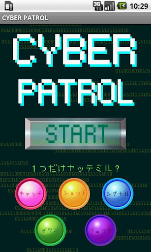 CYBER PATROL~あなたの反射神経が試される……~