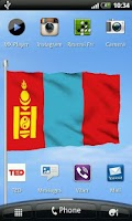 Screenshot of Mongolian Flag Live Wallpaper