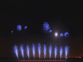 Screenshot of 3D Fireworks