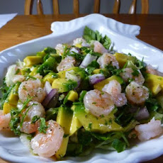 Shrimp,papaya & Avocado Salad