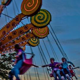 Fun! by Jesus Giraldo - City,  Street & Park  Amusement Parks ( carrusel, joy, children, fun )
