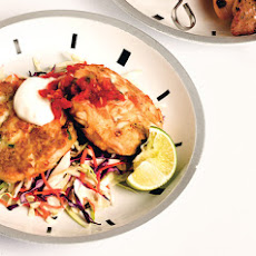 Jalapeño Crab Cakes with Slaw and Salsa