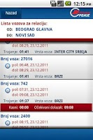Screenshot of Red vožnje ŽS