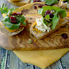 Rustic Pumpkin Toasts