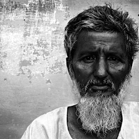 Words Unspoken !  by Rupam Chakraborty - Black & White Portraits & People ( monochrome, still life, street, portraits, people )