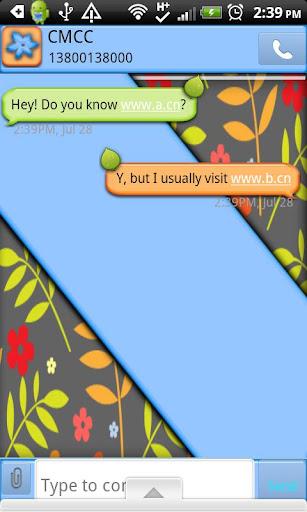 GO SMS THEME SpringFlwerCPK2