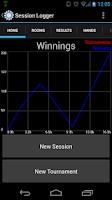 Screenshot of Poker Session Logger