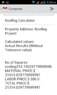 Roofing Calculator - screenshot