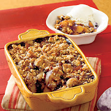 Peach-Blueberry Crumble