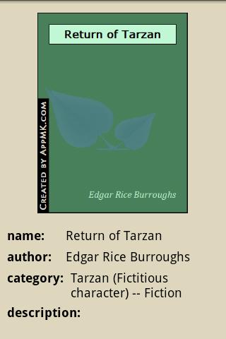 玩免費書籍APP 下載The Return of Tarzan app不用錢 硬是要APP